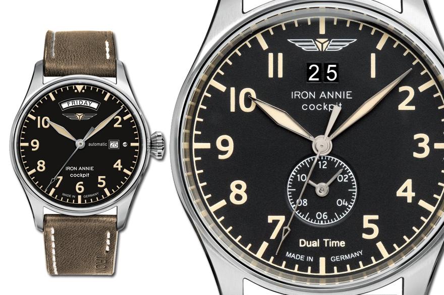 alt=Iron Annie Uhr Cockpit